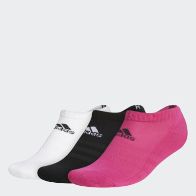 Running Cushioned Low-Cut Socken, 3 Paar Rosa