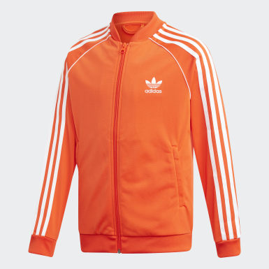 Kids Originals Orange SST Track Jacket