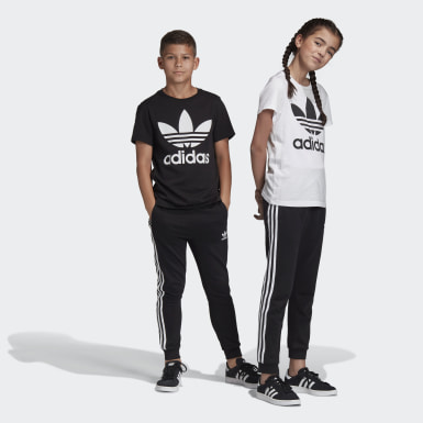 Youth 8-16 Years Originals Black 3-Stripes Joggers