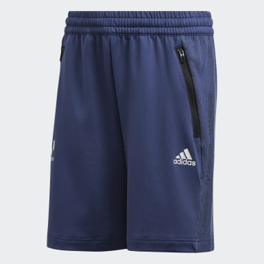 Youth 8-16 Years Training Blue Messi Shorts