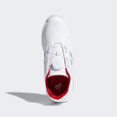 Kids Golf White Adipower Boa Shoes