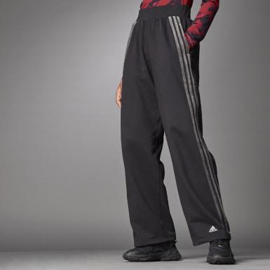 Women Athletics Black Wide Pants