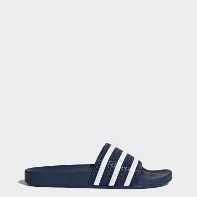 Originals สีน้ำเงิน รองเท้าแตะ adilette