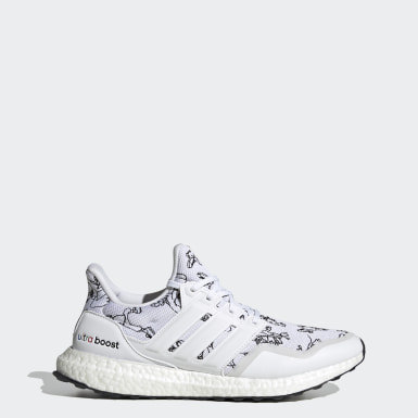 Men Running White Ultraboost DNA x Disney Shoes