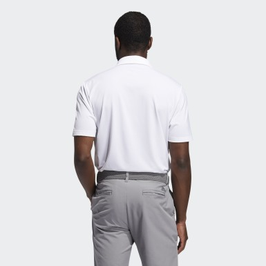 Men Golf White Ultimate365 Solid Polo Shirt