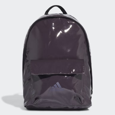 Women Training Purple Glossy Effect Classic Backpack