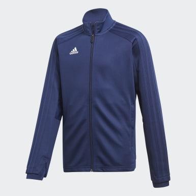 Børn Træning Blå Condivo 18 træningsjakke