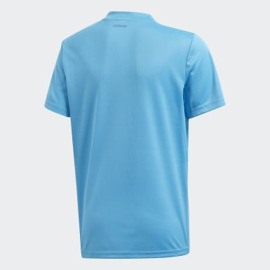 Youth Tennis Blue 3-Stripes Club Tee