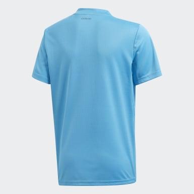 T-shirt 3-Stripes Club bleu Adolescents Tennis