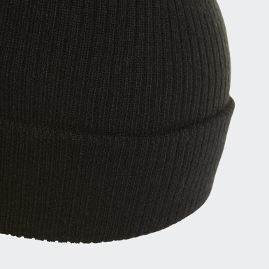 Frauen Originals Faux Fur Bommelmütze Schwarz