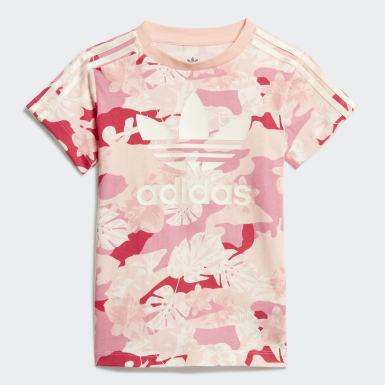 Conjunto vestido camiseta y mallas Blanco Niño Originals