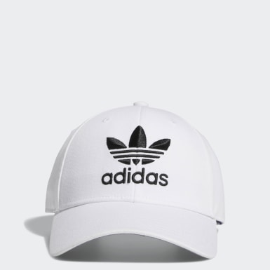 Men Originals White Icon Pre-Curved Snapback Hat