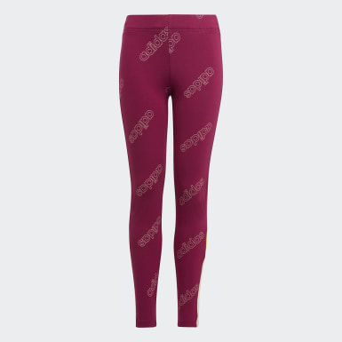 Leggings Classics Bordô Raparigas Athletics