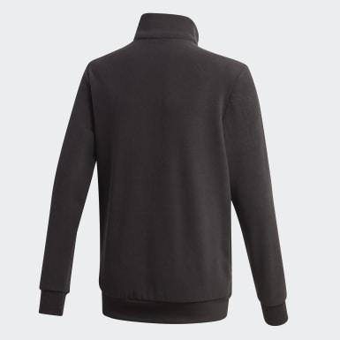 Jongens Athletics Zwart Classics Warm Sweatshirt met Korte Rits