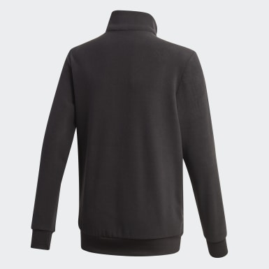 Sudadera Classics Warm Quarter-Zip Negro Niño Athletics