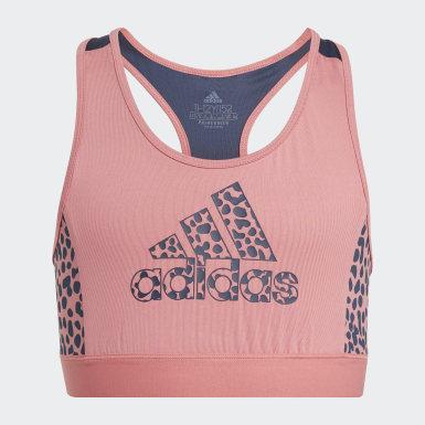 Top Sutiã Designed 2 Move adidas Rosa Raparigas Athletics