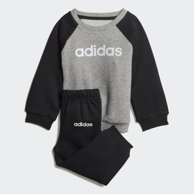 Conjunto Linear Fleece Jogger Gris Niño Athletics