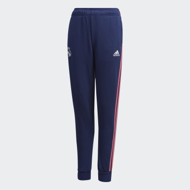 Youth Soccer Blue Real Madrid Sweat Pants