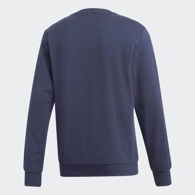 Männer Athletics Essentials 3-Streifen Sweatshirt Blau