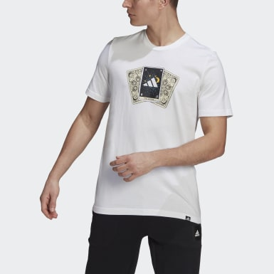 Camiseta Estampada Tarot Badge of Sport Branco Homem Athletics