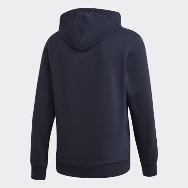Sweat-shirt à capuche Essentials 3-Stripes Pullover bleu Hommes Entraînement