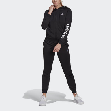 Chándal Essentials Logo French Terry Negro Mujer Athletics