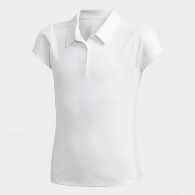Kids Golf White Polo Shirt
