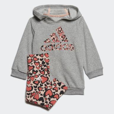 Kinder Training Hoodie-Set Grau