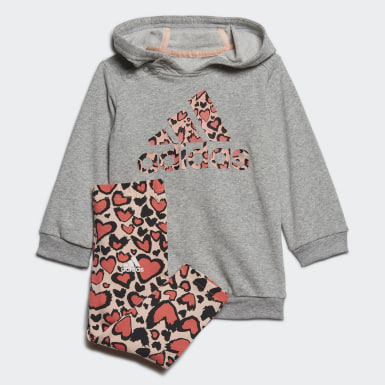 серый Комплект: платье и леггинсы