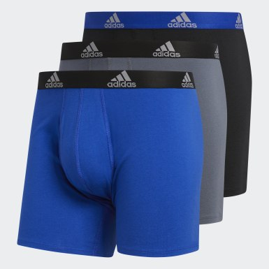 Men's Training Blue Big & Tall Stretch Boxer Briefs (3-Pack)