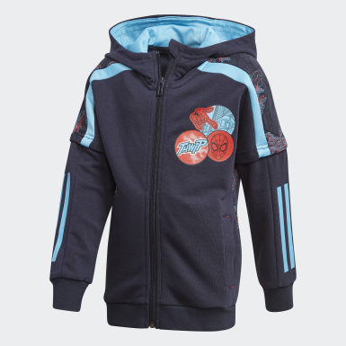 Boys Training Blue Spider-Man Hoodie