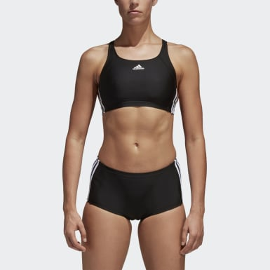 Dames Zwemmen Zwart Essence Core 3-Stripes Bikini