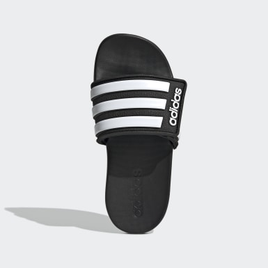 Kids Swimming Black Adilette Comfort Adjustable Slides