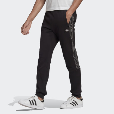 Men Originals Black SPRT 3-Stripes Sweat Pants