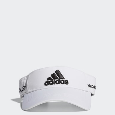 Men Golf White Tour Visor