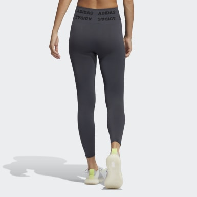 Women Running Grey Training Aeroknit 7/8 High-Rise Tights