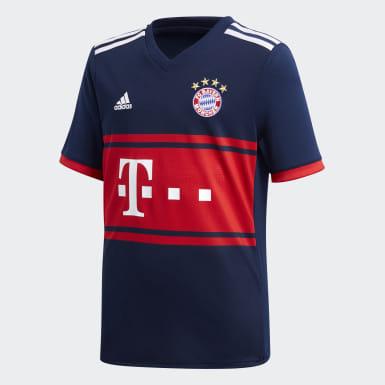 Jersey FC Bayern Munich Away Replica Azul Niño Fútbol