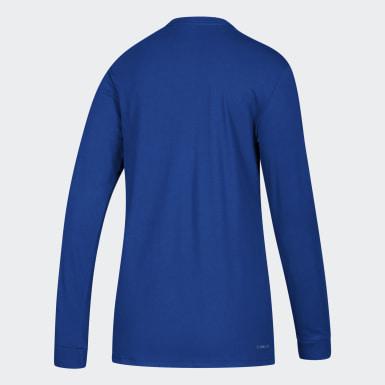 Women's Sport Inspired Blue Badge of Sport Tee