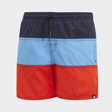 Jongens Zwemmen Blauw Colourblock Zwemshorts