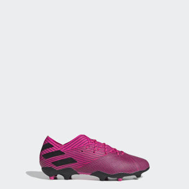 Kids Football Pink Nemeziz 19.1 Firm Ground Boots