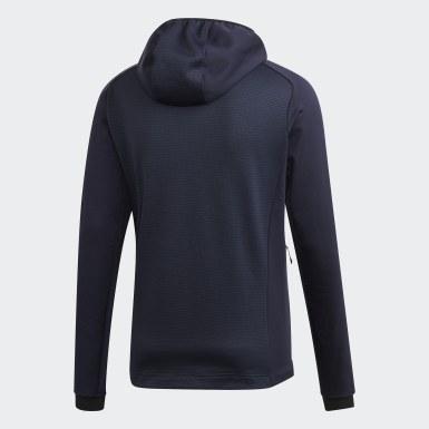 Men's Hiking Blue Terrex Stockhorn Hooded Fleece Jacket