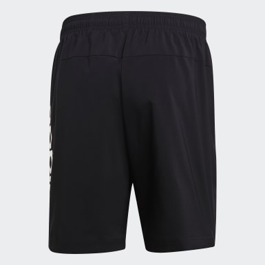 Men Athletics Black Essentials Linear Chelsea Shorts
