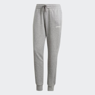 Women Training Grey Essentials Solid Pants
