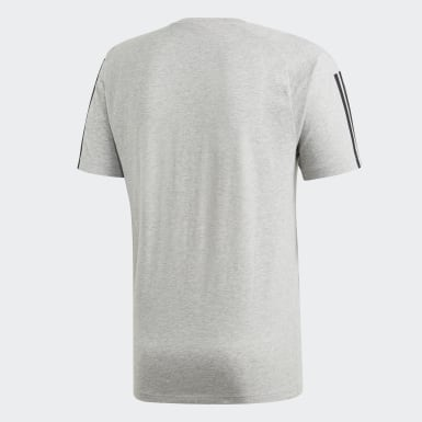 T-shirt Must Haves 3-Stripes Grigio Uomo Athletics