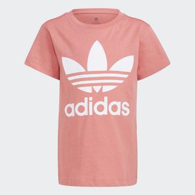 เด็ก Originals สีชมพู เสื้อยืด Trefoil