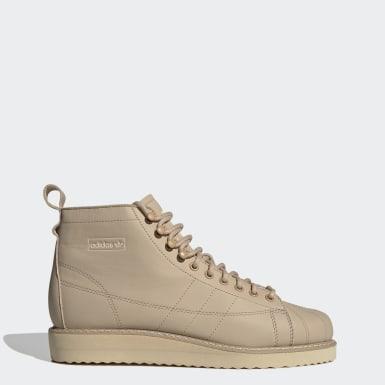 Frauen Originals Superstar Schuh Beige