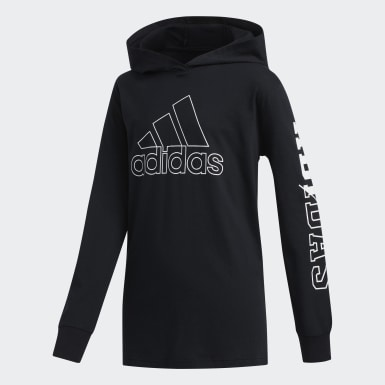 Children Training Black Collegiate Hooded Tee