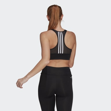 Top Deportivo AEROREADY Designed 2 Move 3 Tiras Negro Mujer Training