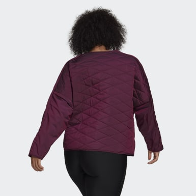 Women Athletics Burgundy adidas Z.N.E. Padded Jacket (Plus Size)