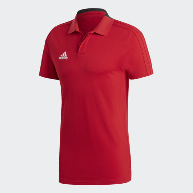 Polo coton Condivo 18 Rouge Hommes Football